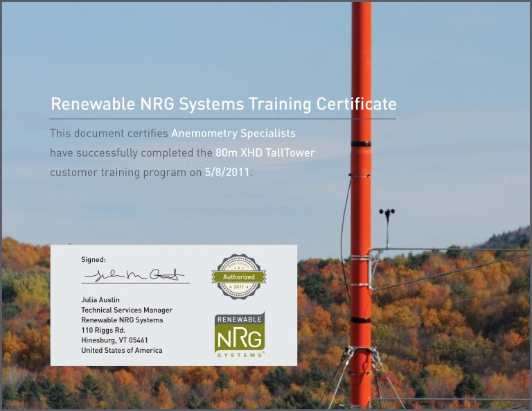 NRG Training Certificate